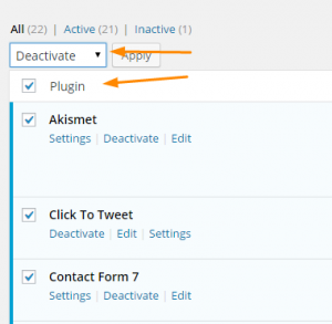 Deactivate-All-Wordpress-plugins