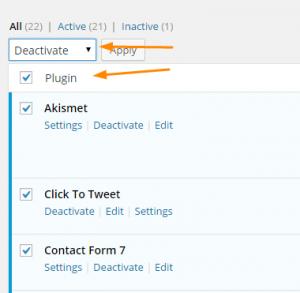 Deactivate-All-Wordpress-plugins